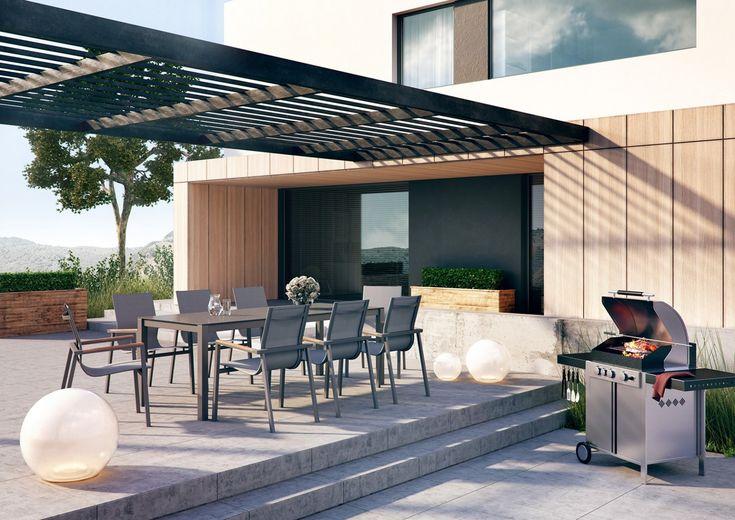 Meble ogrodowe OVIEDO TEAK - prod. Zumm Garden Furniture (meble ogrodowe aluminium, meble z aluminium, nowoczesne meble ogrodowe, ekskluzywne meble ogrodowe aluminium, zestawy ogrodowe z aluminium, meble tarasowe, stół ogrodowy, fotele ogrodowe, krzesła ogrodowe, meble tekowe, meble teak, teakowe meble ogrodowe, zestawy mebli z aluminium, zestaw mebli ogrodowych teak, Garden Space)