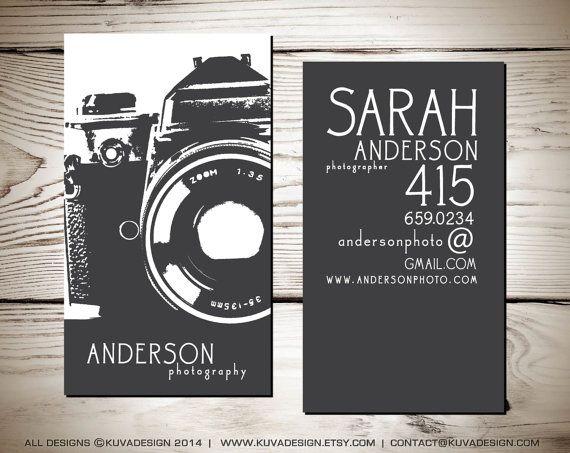 Diseño de fotografía tarjeta de visita por KuvaDesign en Etsy                                                                                                                                                                                 Más