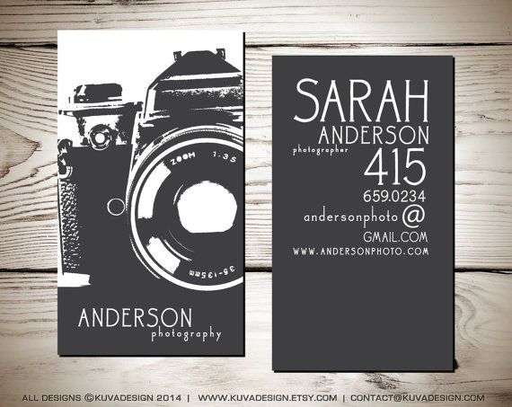 Photography Business Card Design by KuvaDesign on Etsy