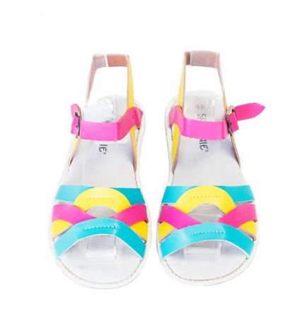 Kids' coast leather sandals in rainbow - for my girl