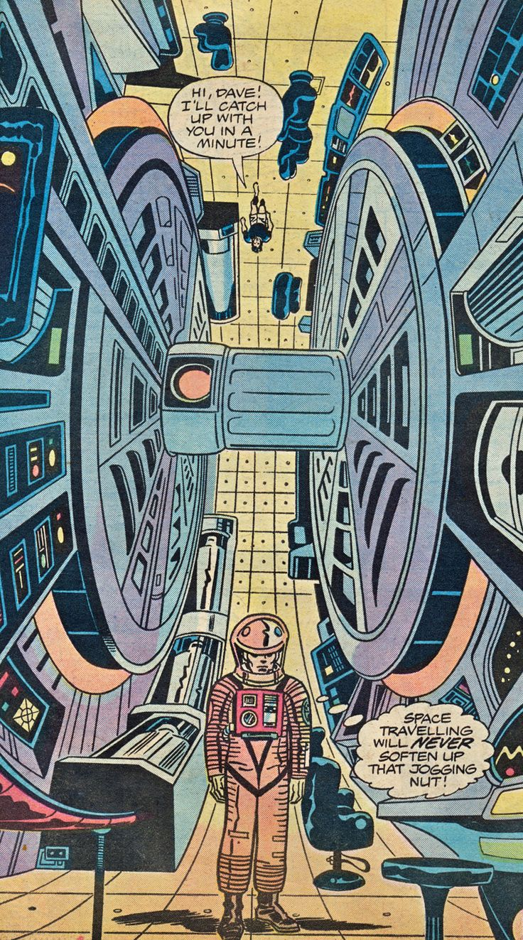 Jack Kirby art the 2001A Space Odyssey Marvel Treasury Special 1976