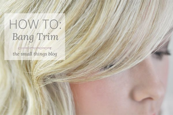 how to cut fringe bangs yourself