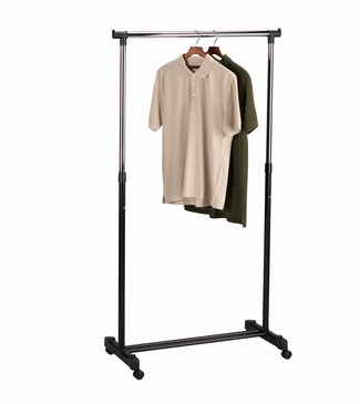 Free Shipping Eligible  Adjustable Rolling Garment Rack   $32.99