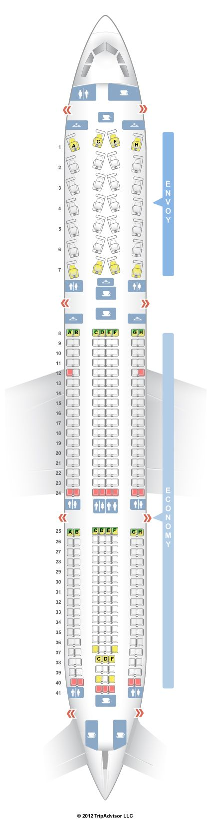 SeatGuru Seat Map US Airways Airbus A330-300 (333)