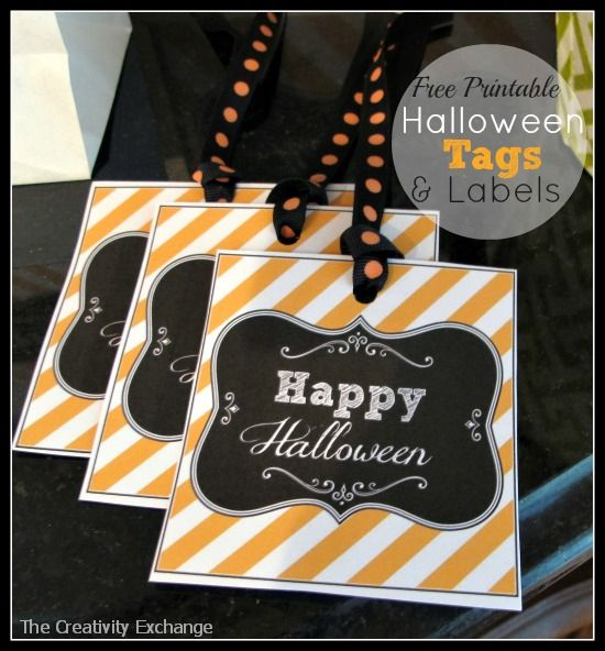 Free Printable Halloween Tags & Labels {Printable of the Month} The Creativity Exchange