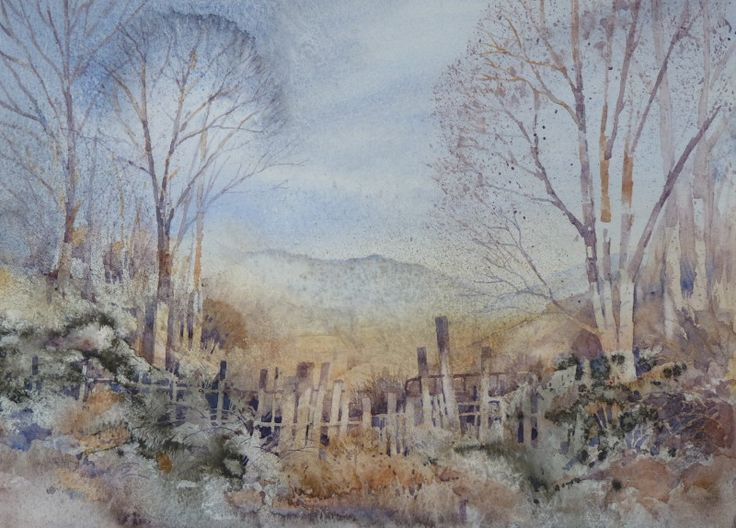 John Blockley Watercolour Artist | over the fence watercolour a3 watercolour…