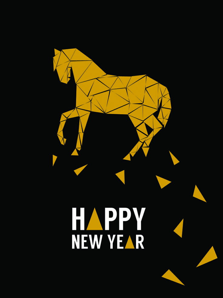 Triangles Horse  For 2014 New Year Card.
