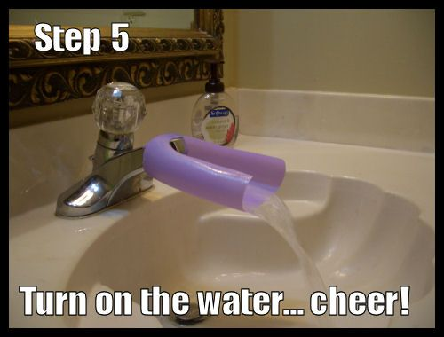 Faking My Way Through...: How to make a Faucet Extender