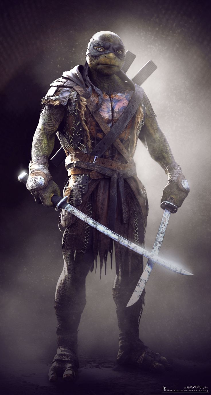 Concept art de Leonardo en Teenage Mutant Ninja Turtles (2014), por Jared Krichevsky