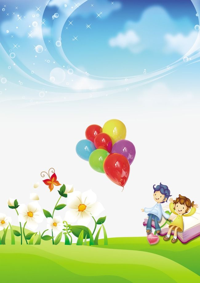 Children Grow Up Album Cartoon Background Cartoon