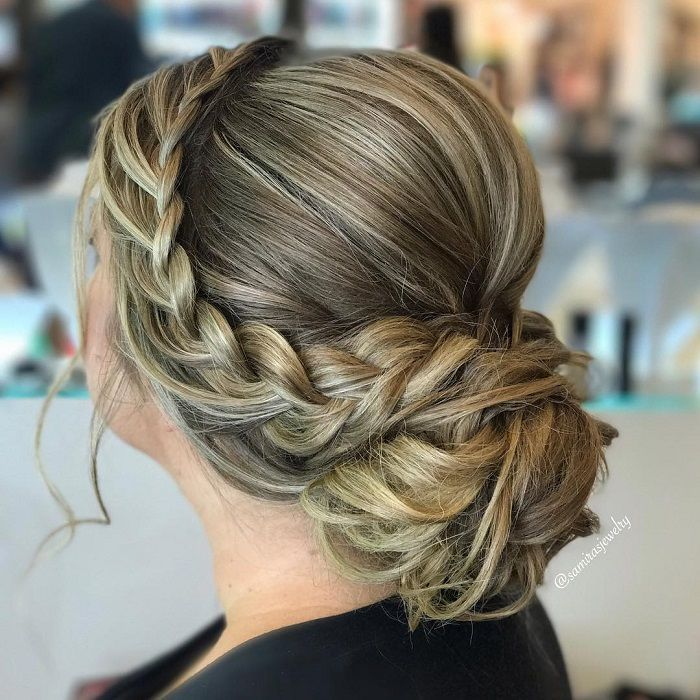 Dutch Crown Braided Updo Hairstyle In 2020 Braided Hairstyles