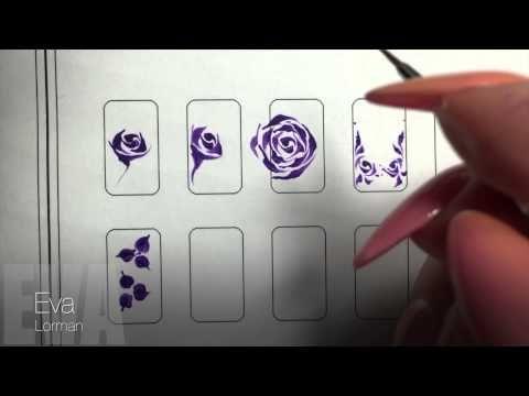 Роспись ногтей! Цветы! Урок 11! Все Видео уроки! - YouTube
