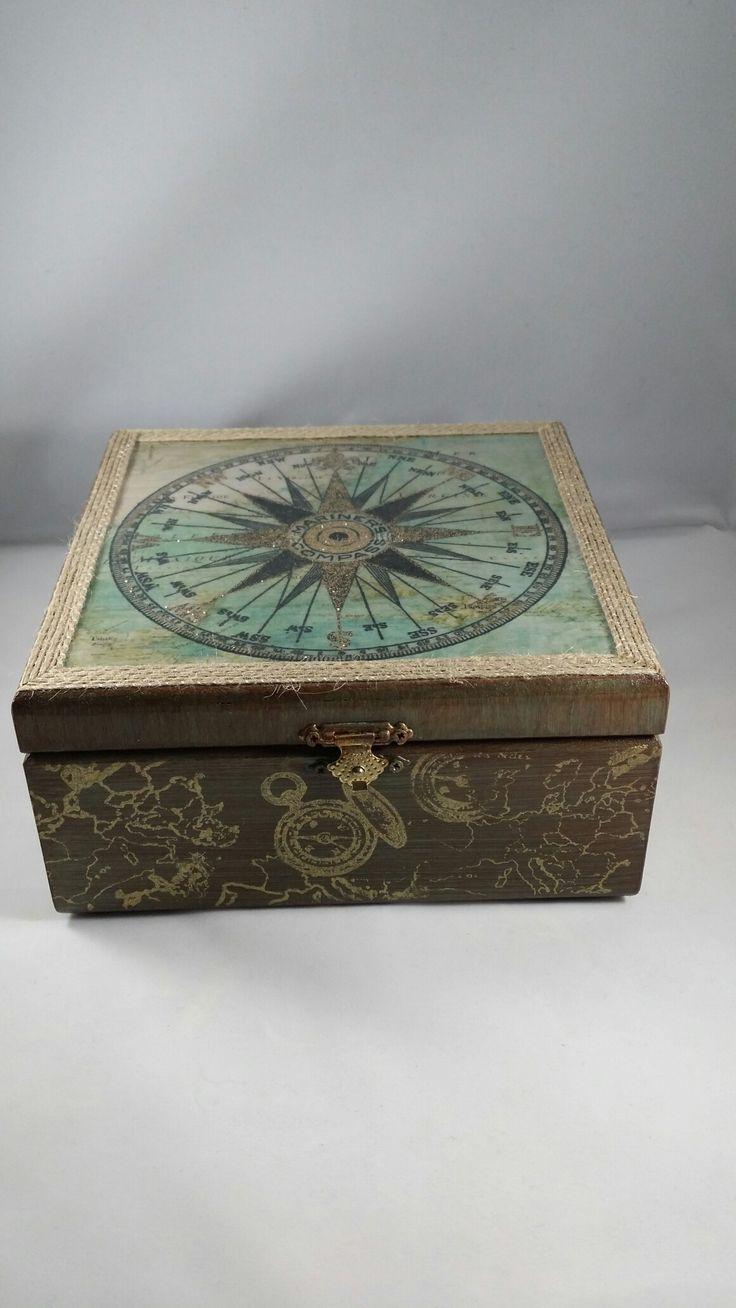 Decoupage Compass Box