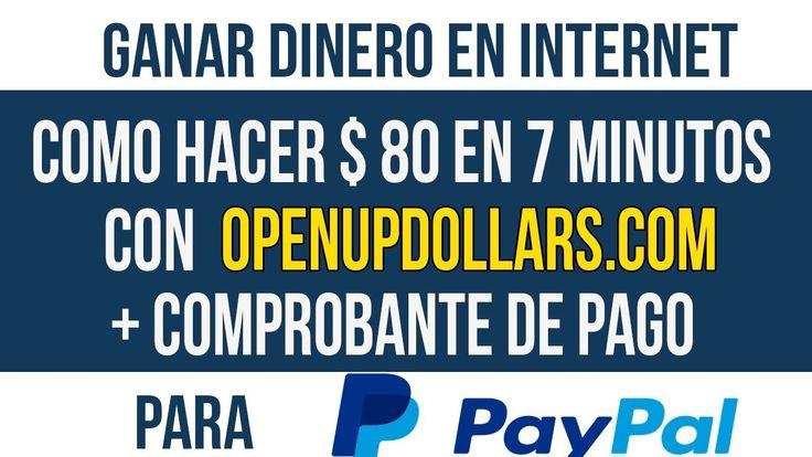 COMO GANAR 80 DOLARES DIARIOS PARA TU PAYPAL + COMPROBANTE DE PAGO| 2017