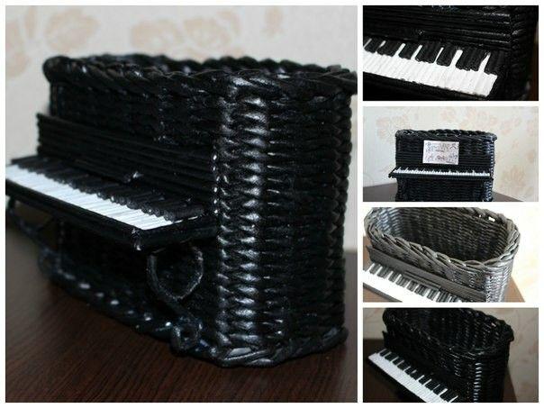 Фортепиано-корзинка.