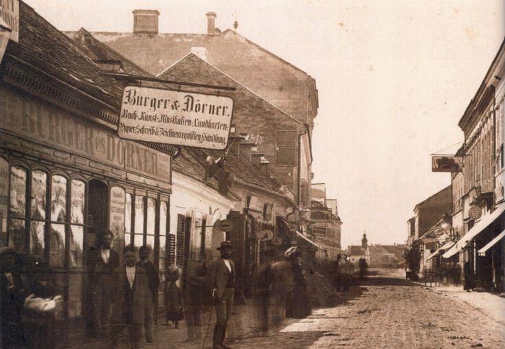 Palánk, Oskola utca még az árvíz előtt 1870 körül