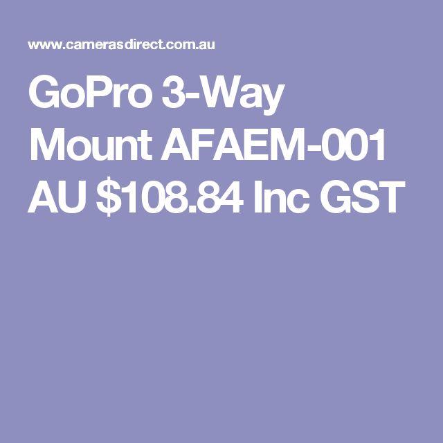 GoPro 3-Way Mount AFAEM-001  AU $108.84 Inc GST