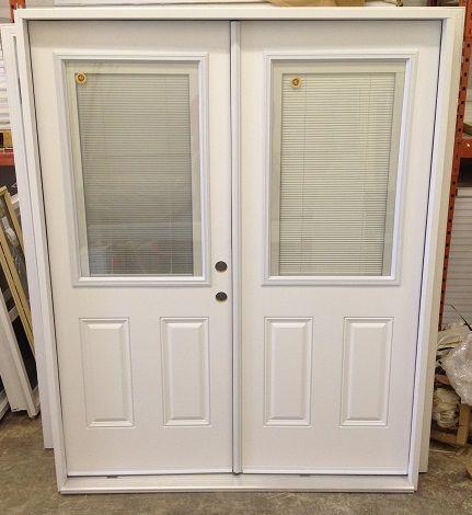 Blinds Between Glass Double Entrance Doors
