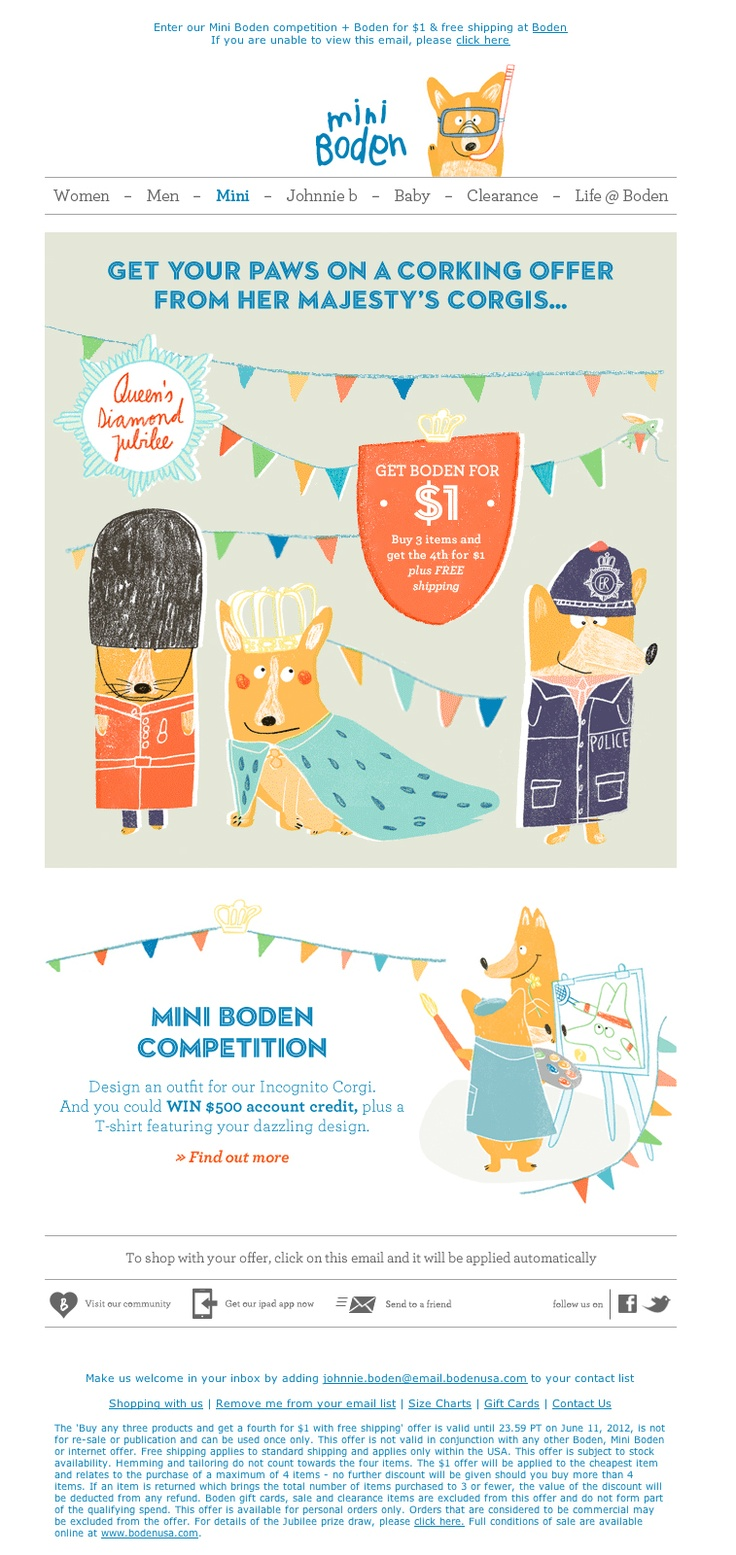 Boden Illustrated Email with Animated #GIF #email #boden