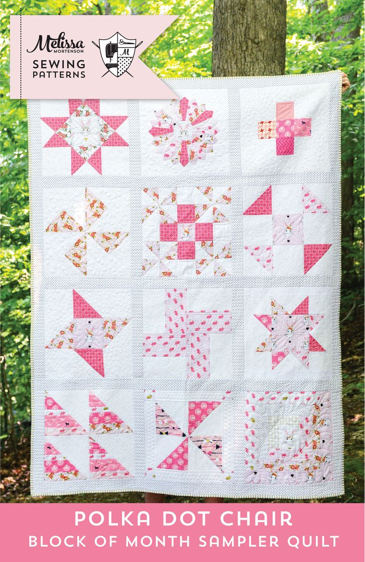 Quilt Block of the Month series on polkadotchair.com - create a quilt in 12 easy steps! Today marks the end of our 2015/2016 Quilt Block of the Month Series. It's time to turn those quilt blocks into a completed Quilt!