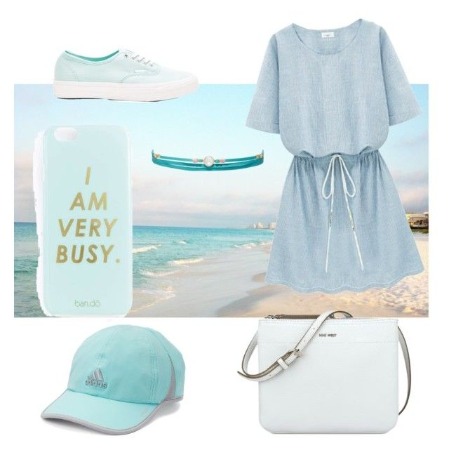 """""""study in blue"""" by megan-osh on Polyvore featuring Vans, Miss Selfridge, Nine West, Chan Luu and adidas"""
