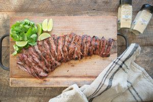 If you are short on time, but still want a skirt steak that is both tender and flavorful, this recipe will not disappoint on either! This is a recipe in heavy rotation at our house these days!