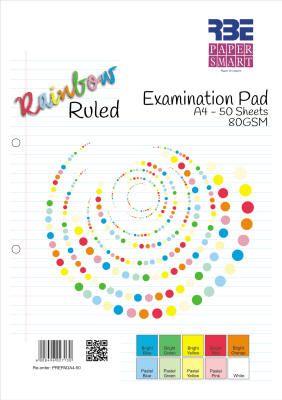 RBE - PaperSmart Rainbow Exam Pad Ruled