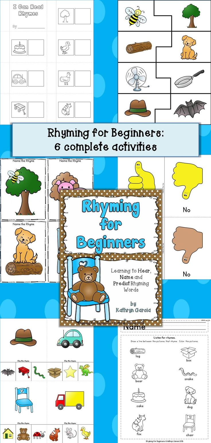 Worksheet Words That Rhyme With Ones 1000 images about education rhymingnursery rhymes on pinterest rhyming for beginners the first step in learning words is being able to hear rhyme do that little ones