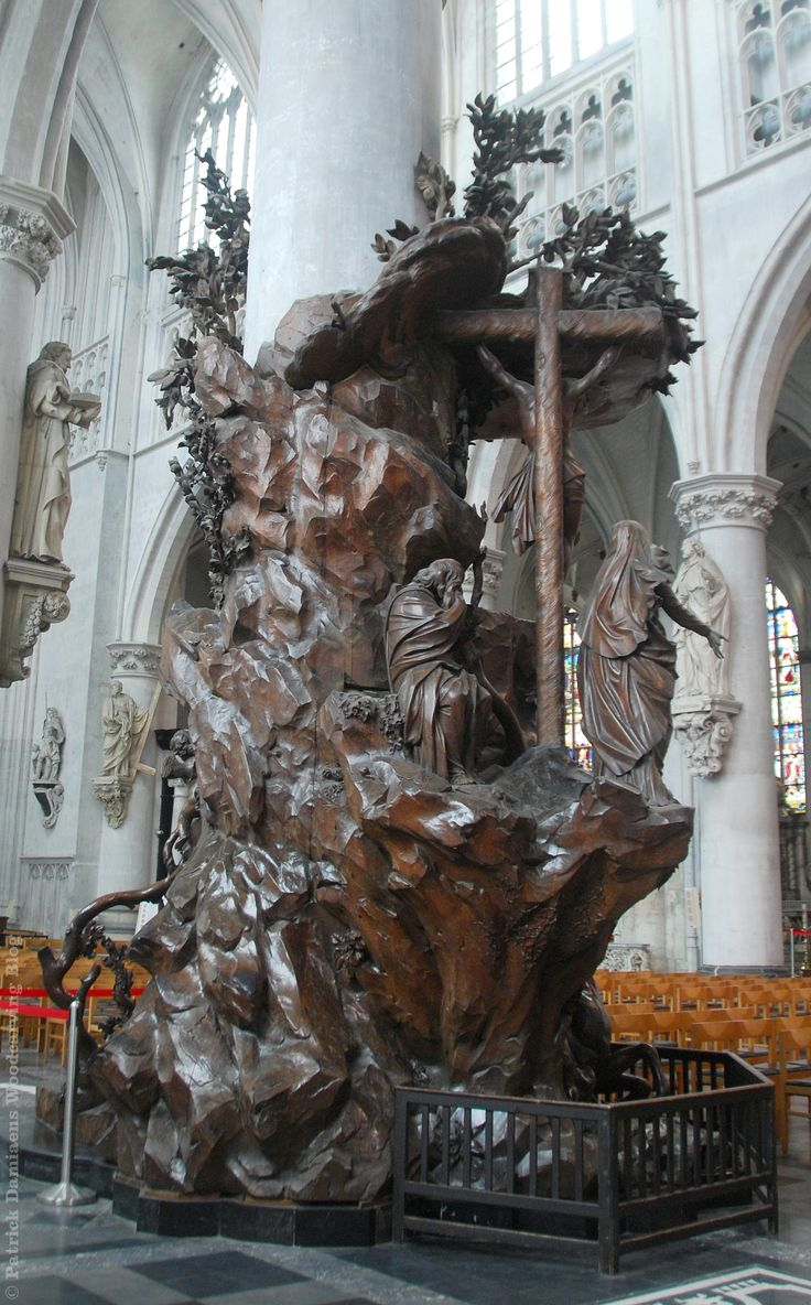 The Pulpit Of Saint Rombouts Cathedral In Mechelen
