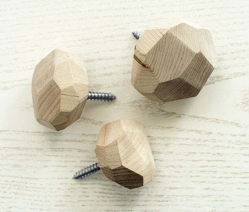 How to: Make DIY Faceted Wooden Wall Hooks | Man Made DIY | Crafts for Men | Keywords: manmade-original diy woodworking wood True-Value how-to true-value organization office DIY decor wall