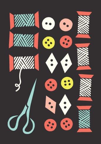 """""""Nappeja ja Rullia"""" design by Kristiina Haapalainen & Sami Vähä-Aho, Polkka Jam 2012."""