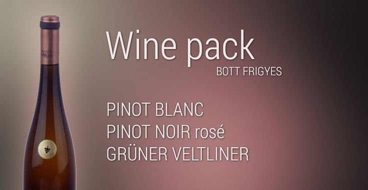 For wine lovers we have prepared several packages and one of them is The May package that includes wine Bott Frigyes. http://www.slovakiawine.eu/en/dry/378-bott-frigyes-may-pack-.html