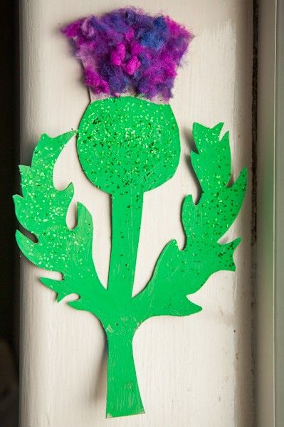 Alexandra's Wishes: Kids craft, Scottish Thistles for #StAndrewsDay