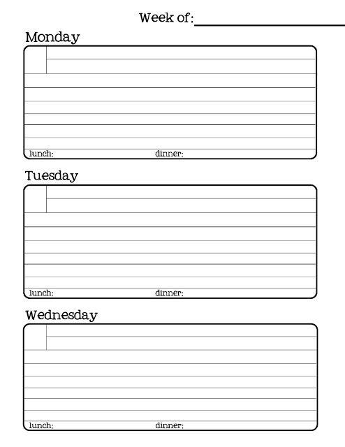 63 best printables - weekly images on Pinterest Planner ideas - printable weekly planner