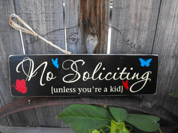 No Soliciting Front Door Home Decor Sign. Polite But Gets The Point Across