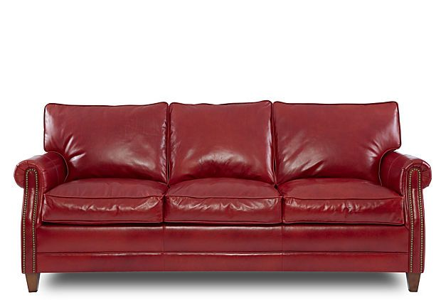 30 best couches images on pinterest red leather couches for Studded sofa sets