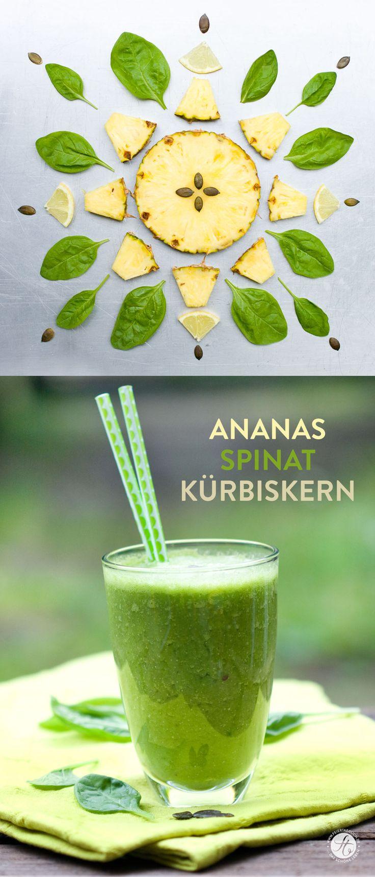 Smoothie-Montag 03: Ananas-Spinat-Kürbiskern Smoothie | feiertäglich…das schöne Leben