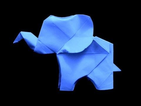 """How to fold Origami Elephant . Subscribe for new weekly tutorials!. Enjoy! & don't forget to """"Like"""" & """"Subscribe"""" if you enjoyed my video! Thanks Original De..."""