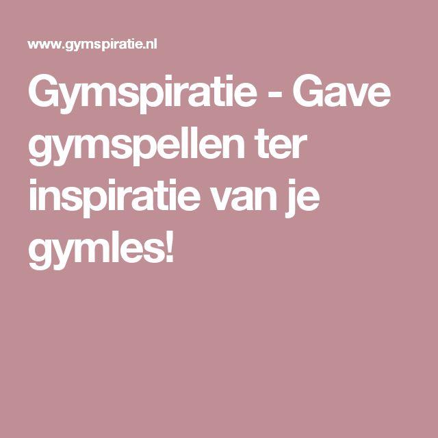 Gymspiratie - Gave gymspellen ter inspiratie van je gymles!