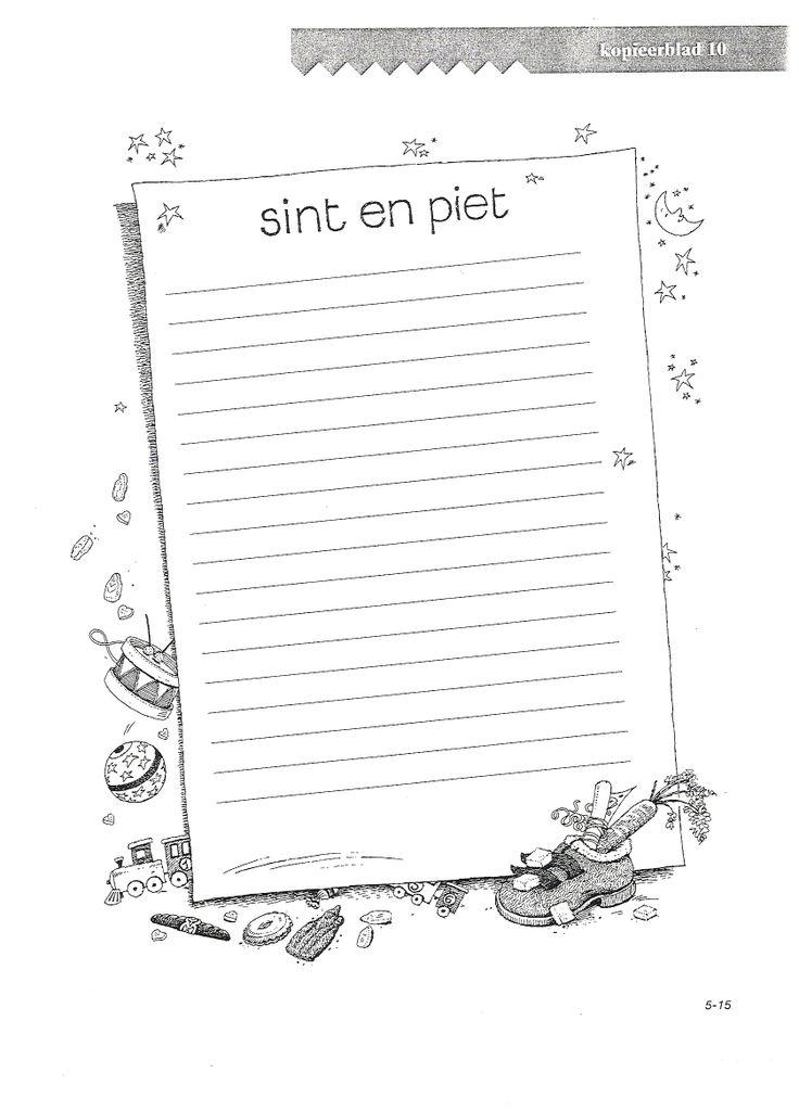 VLL Sinterklaas Kopieerblad 10