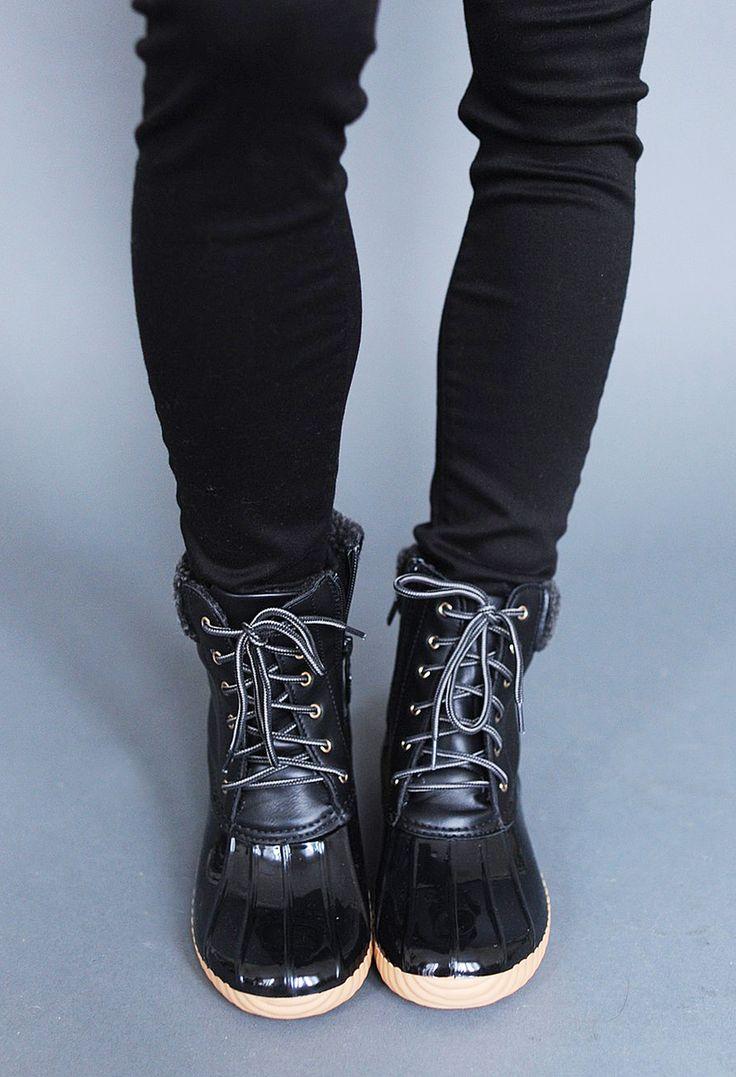 Black Winter Boots - Dottie Couture Boutique