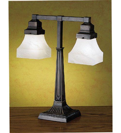 20h bungalow 2 light desk lamp