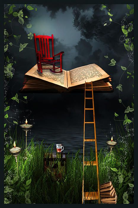 ♂ Commercial space design window display with book and red chair