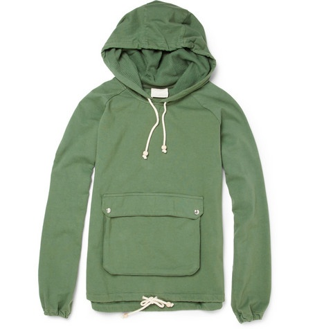Band of Outsiders Patch Pocket Jersey Hoodie. #want
