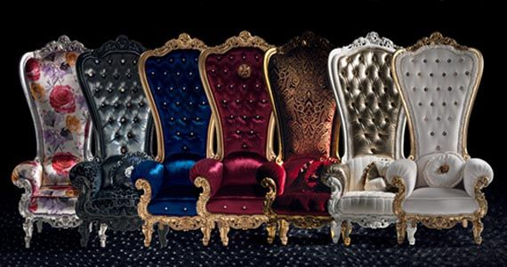 luxury armchairs designed by Caspani