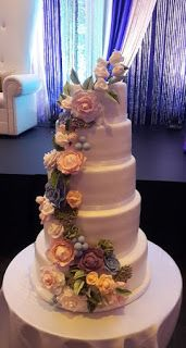 sv cakes: 5 tire wedding cake