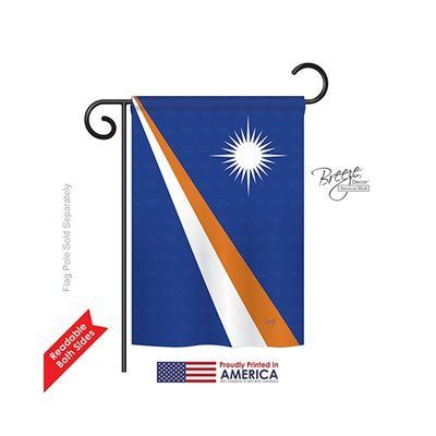 """TwoGroupFlagCo Marshall Islands 2-Sided Vertical Flag Size: 18.5"""" H x 13"""" W"""