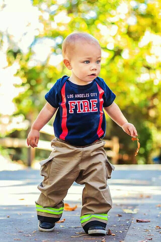 93d740ce1 Personalize Fire Department Baby Firefighter Gear Outfit (100 ...
