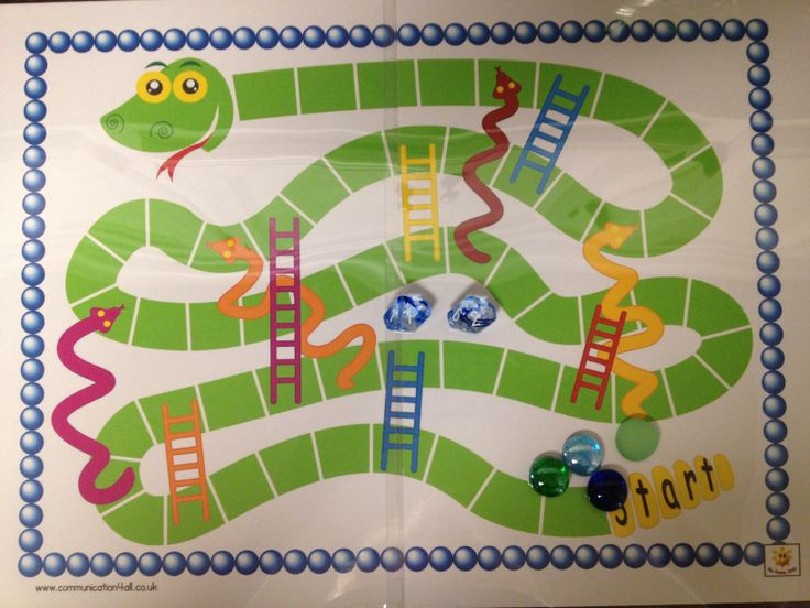 Snakes and Ladders addition game. Use game board template, numbered dice from amazon.com, and fishbowl jewels for markers.