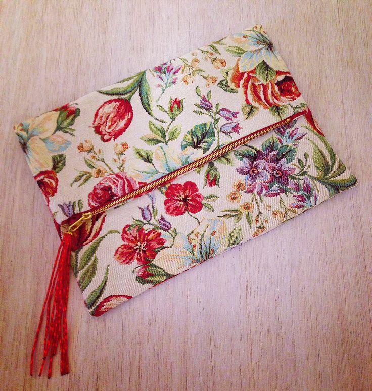 Carpet+bag+con tessuto tappezzeria Anna Borrelli